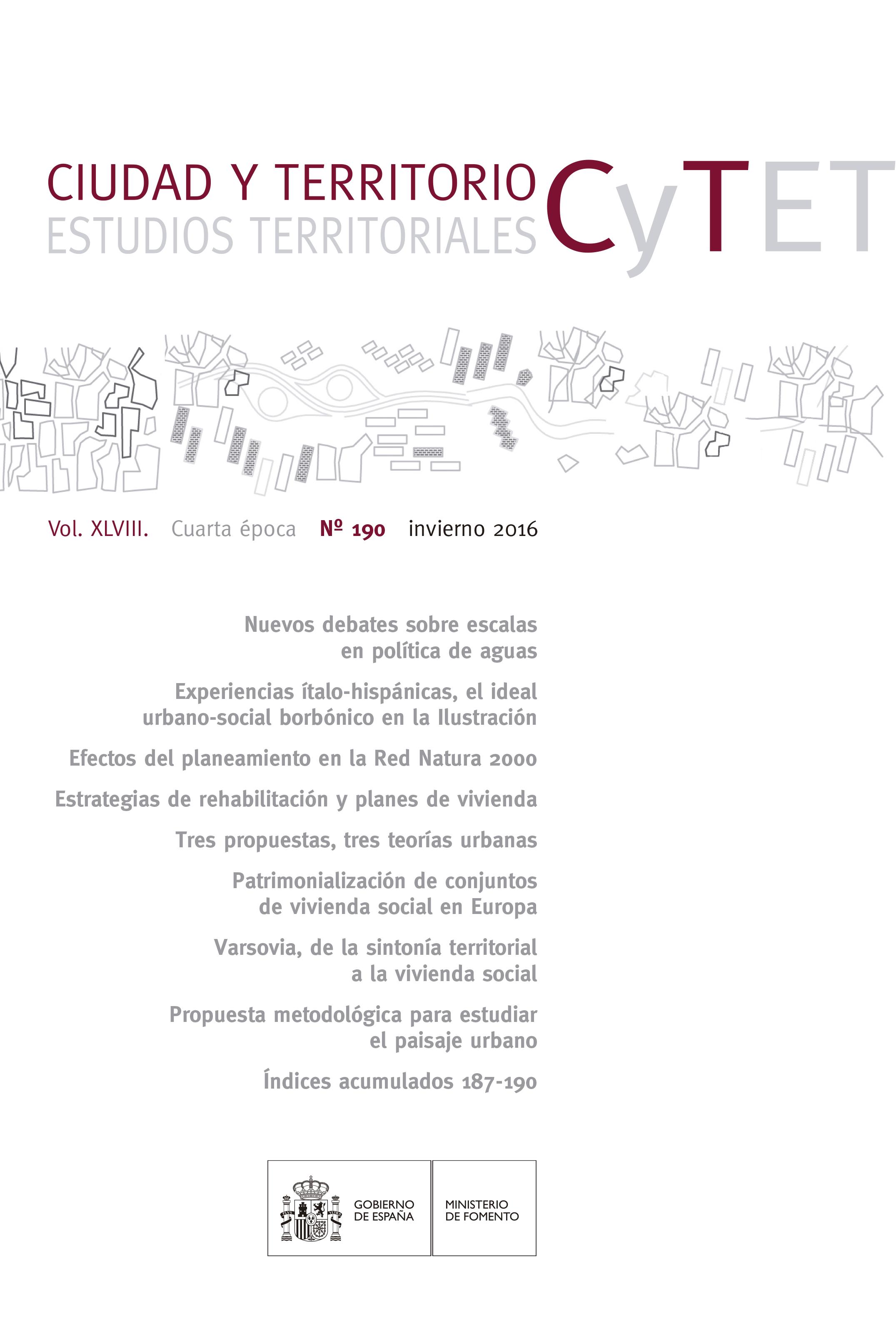 Ciudad y Territorio nº 190, invierno 2016.